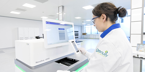Photo of the Genuity Science sequencing lab.